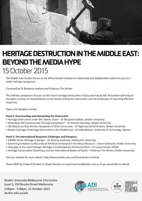 Deakin Heritage destruction 15 October